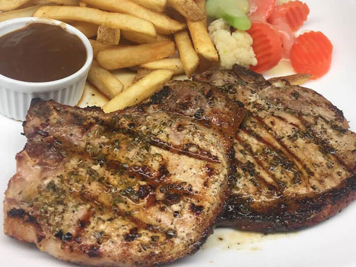 Pork Chops and Fries